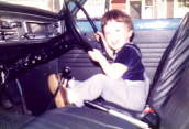 Aged 2 - at the wheel