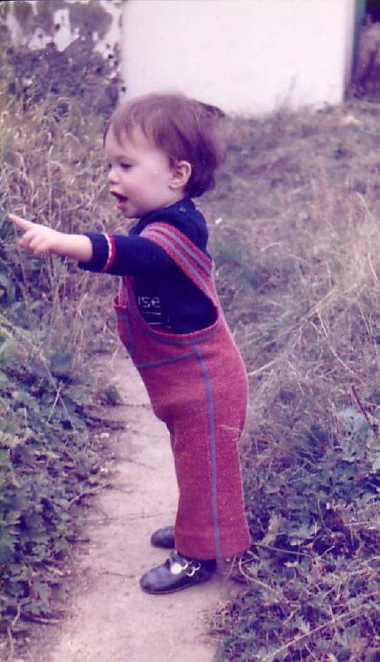 Aged one and a half - admiring the 'flowers'