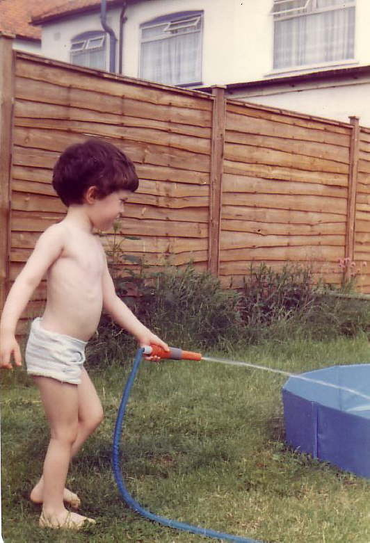 Filling the pool - 2nd June 1982
